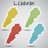stickers in form of Lebanon