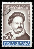 ROMANIA - CIRCA 1990: A stamp printed in Romania, shows portrait of Constantin Cantacuzino, 1640 - 1