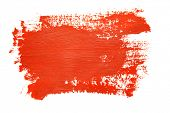 picture of dab  - Red brush strokes on the white background - JPG