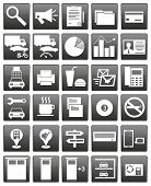 pic of dandruff  - ?ollection of icons of universal service, the provision of services - JPG