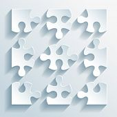 Paper puzzles for business and infographics