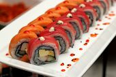 stock photo of sushi  - Close - JPG