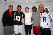 Yancy Arias, Amaury Nolasco, Jennifer Morrison, Shay Roundtree and Oskar Cartaya at the Padres Contr