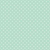 Seamless vector pattern with light green polka dots on a retro vintage mint green background