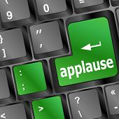 Business Concept: Applause Words On Digital Screen, 3D