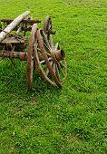 Old Wooden Wheel Spokes,