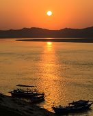 Sunset At Ayeyarwady River, Myanmar