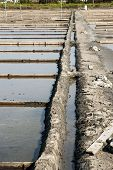 Drainage System Between Salt Evaporation Ponds