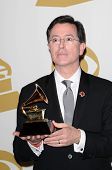 Stephen Colbert  at the 52nd Annual Grammy Awards, Press Room, Staples Center, Los Angeles, CA. 01-3