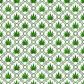 pic of marijuana leaf  - Green Marijuana Leaf Pattern Repeat Background that is seamless and repeats - JPG