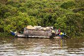 House Boat On Thonle Sap