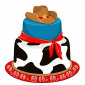 Cowboy Party Birthday Cake
