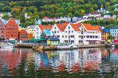 Scenery of Bergen, Norway