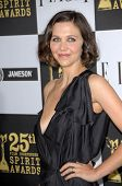 Maggie Gyllenhaal  at the 25th Film Independent Spirit Awards, Nokia Theatre L.A. Live, Los Angeles, CA. 03-06-10