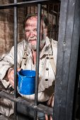 Angry Old West Prisoner
