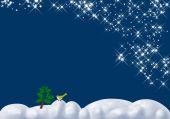 Blue Winter Snow