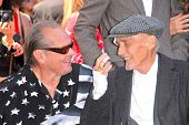 Jack Nicholson and Dennis Hopper at the Hollywood Walk of Fame induction ceremony for Dennis Hopper, Hollywood Blvd., Hollywood, CA. 03-26-10