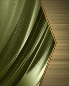 Abstract green Background with gold nameplate.