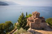 Cliff-top Church At Lake Ohrid, Macedonia