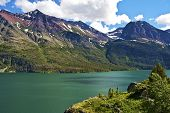 stock photo of mary  - Scenic Montana Lake - JPG
