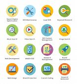 picture of shield  - This set contains 16 SEO and Internet Marketing Flat Icons that can be used for designing and developing websites - JPG