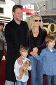 Russell Crowe, Danielle Spencer and sons Tennyson and Charlie at the Russell Crowe star ceremony into the Hollywood Walk of Fame, Hollywood, CA 04-12-10