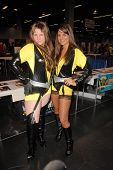 Bridgetta Tomarchio and costumed attendee  at Wizard World Anaheim Comic Con Day 2, Anaheim Conventi
