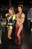 Bridgetta Tomarchio and costumed attendee at Wizard World Anaheim Comic Con Day 2, Anaheim Conventio