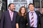 Joel Silver, Robert Downey Jr. and wife Susan Levin at Robert Downey Jr. Hand and Footprints Ceremon