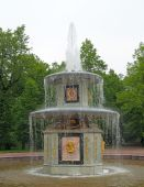 The Roman Fountain. Peterhof (petrodvorets)