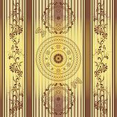 Seamless Striped Vintage Pattern