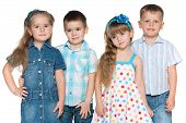 Four Fashion Children