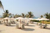 Praia no luxuoso Hotel em Dubai, Emirados Árabes Unidos