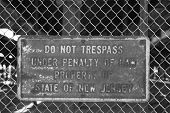No Trespassing Sign On The Fence
