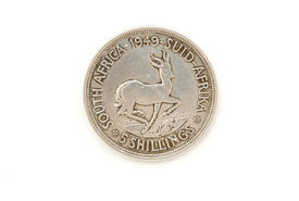 picture of shilling  - 1949 union of south africa five shilling coin - JPG