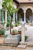 Stavropoleos Monastery Courtyard