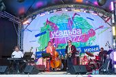 MOSCOW - JUNE 14: Nirvana in Jazz group performs at XI International Jazz Festival