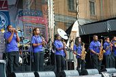 MOSCOW - JUNE 14: Kipp McDonogh 15 Middle SchoolL Brass Band performs at XI International Jazz Festival