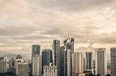 picture of kuala lumpur skyline  - The Kuala Lumpur skyline continues to expand under heavy construction - JPG
