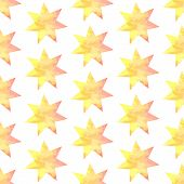 Aquarel Star, Vector Vintage Seamless Pattern