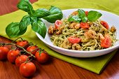 Spaghetti With Pesto And Prawns