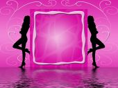 picture of woman body  - silhouettes of two women on pink background - JPG