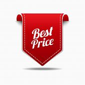 Best Price Red Label Icon Vector Design