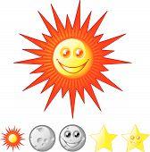 Sol, Luna, estrellas