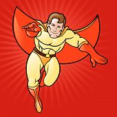 Super herói de desenho animado genérico