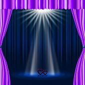 Hearts Stage Represents Beam Of Light And Broadway