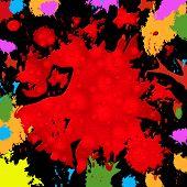 Splash Background Represents Paint Colors And Blob