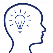 Ideas Think Shows Invention Innovation And Reflecting