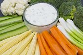 Vegetable Crudites and Dip