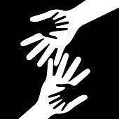 Holding Hands Indicates Black Together And Kid